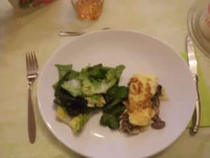 Saumur, omlette avec des champingnons