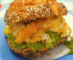 Avocado-Egg Bread