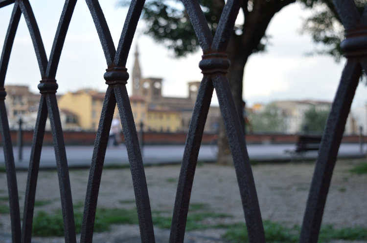 A steel fence in Florence