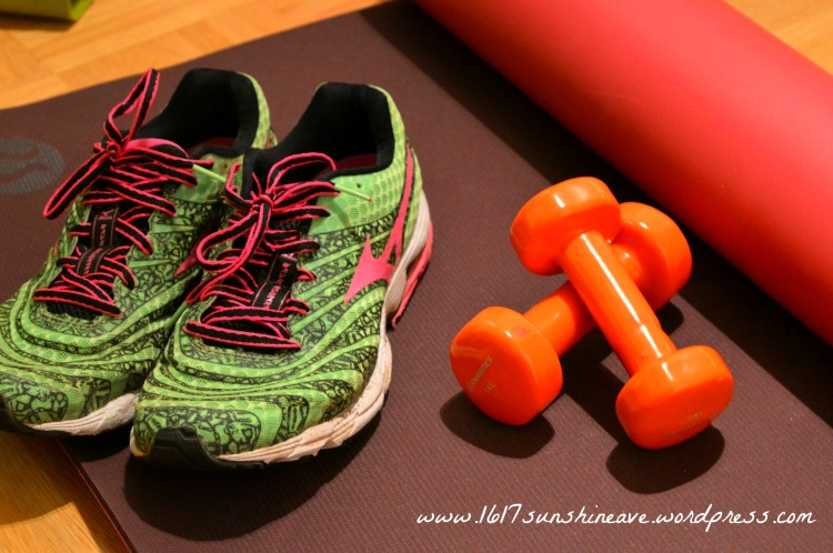 running shoes yoga mat weights.jpg