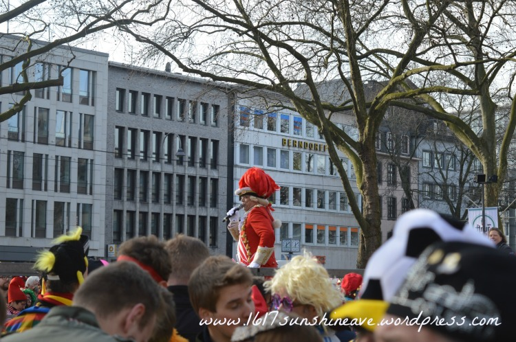 Cologne carnival city street