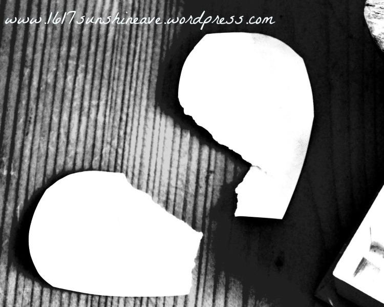 broken heart friendship love problems heart image poem