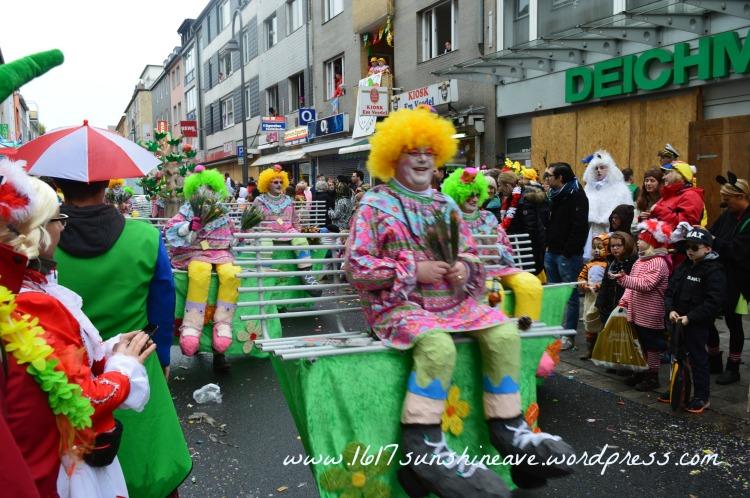 Colorful Cologne Carnival Parade