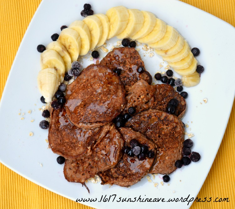 healthy cocoa protein pancakes