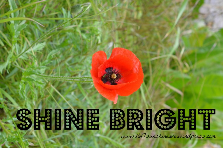 shine bright flower quote
