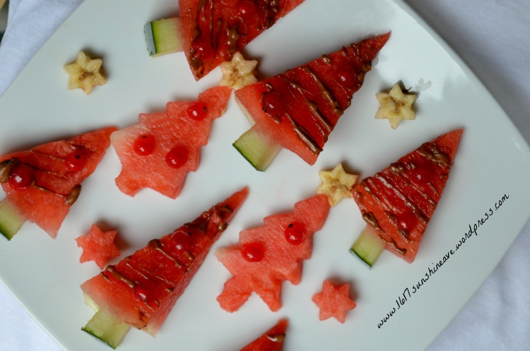 christmas snacks healthy watermelon  tree july august