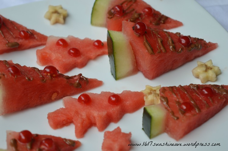 healthy christmas party snacks in july august watermelon trees easy