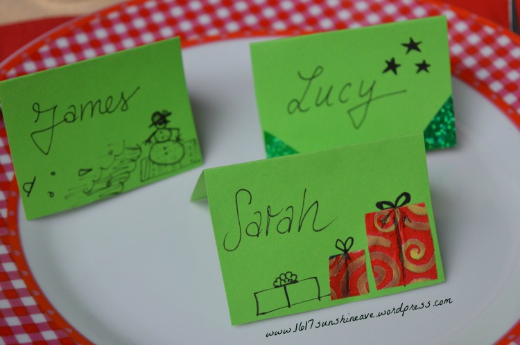 place cards christmas in summer party 1617 sunshine ave