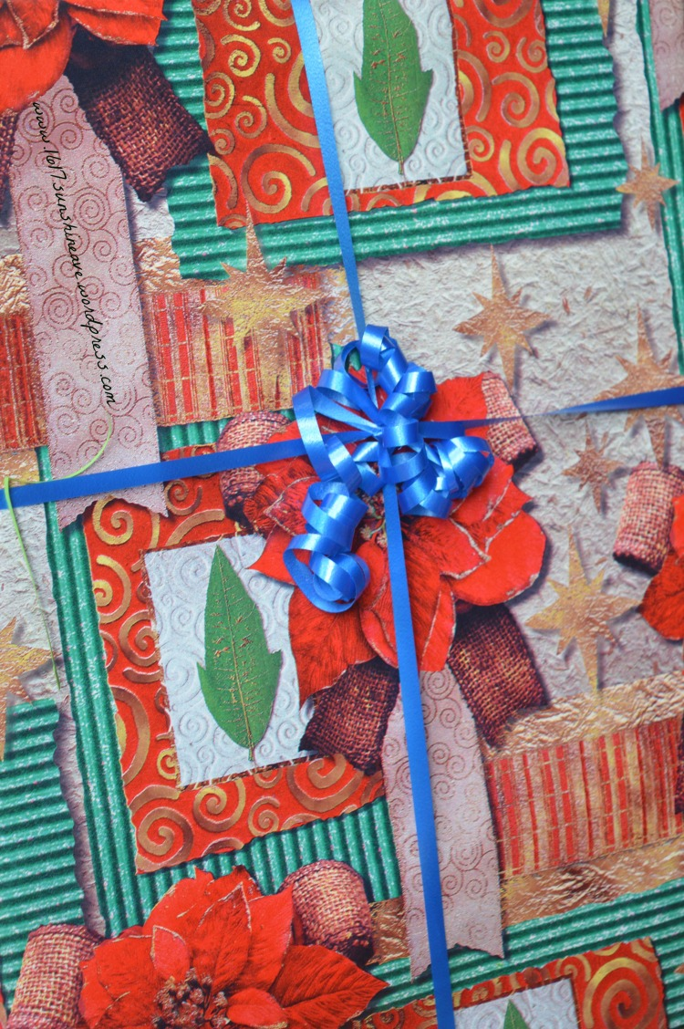 wrapped present canvas picture christmas in summer party diy 1617 sunshine ave