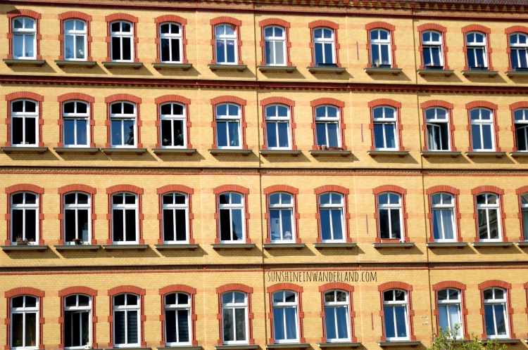 windows in leipzig GDR style travel photography