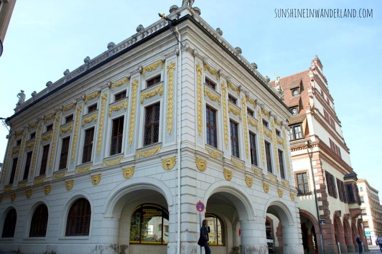 leipzig architecture old city hall naschmarkt goethe